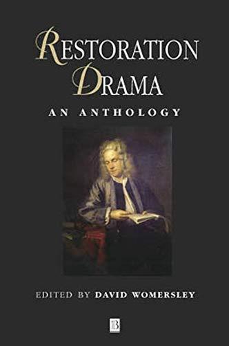 9780631209027: Restoration Drama: An Anthology (Blackwell Anthologies)