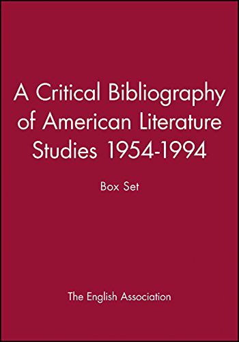A Critical Bibliography of American Literature Studies 1954-1994 (Hardback)