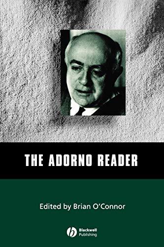 9780631210771: Adorno Reader (Blackwell Readers)