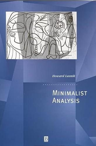 9780631210931: Minimalist Analysis (Generative Syntax)