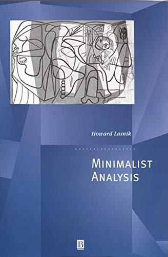 9780631210948: Minimalist Analysis
