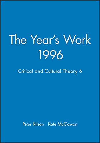 The Year's Work in Critical and Cultural Theory: Peter Kitson, Kate McGowan