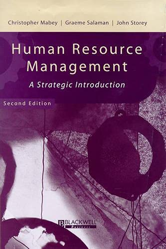 9780631211457: Human Resource Management: A Strategic Introduction (Management, Organizations, and Business Series)