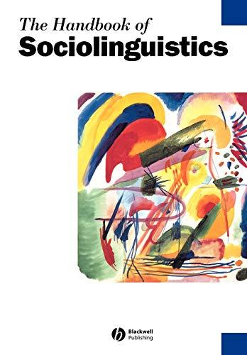 9780631211938: The Handbook of Sociolinguistics