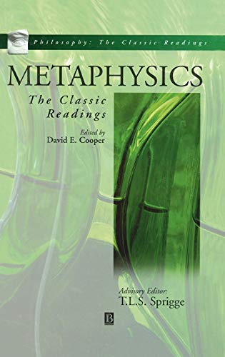 9780631213246: Metaphysics: The Classic Readings (Philosophy, the Classic Readings)
