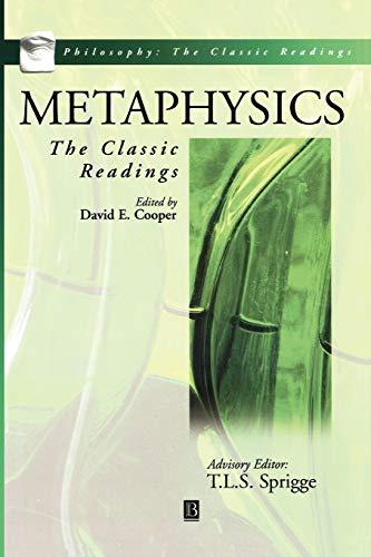 9780631213253: Metaphysics: The Classic Readings