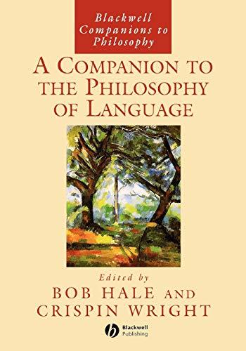 9780631213260: Companion Philsphy Language (Blackwell Companions to Philosophy)