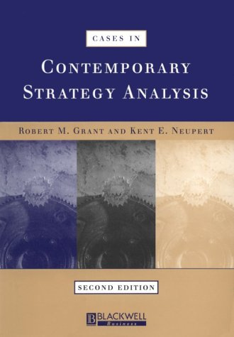 9780631213604: Cases in Contemporary Strategy Analysis