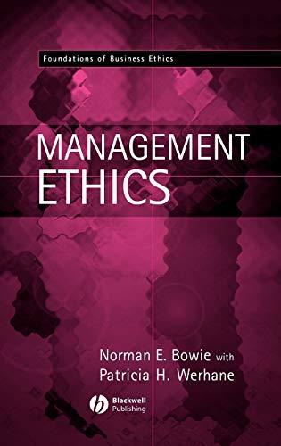 9780631214724: Management Ethics (Foundations of Business Ethics)