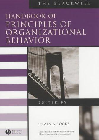 9780631215066: The Blackwell Handbook of Principles of Organizational Behavior (Blackwell Handbooks in Management)