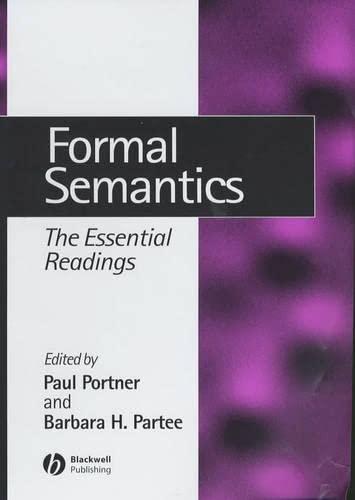9780631215417: Formal Semantics: The Essential Readings