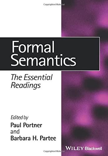 9780631215424: Formal Semantics: The Essential Readings