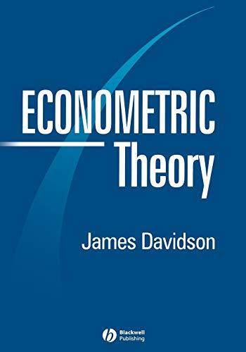 9780631215844: Econometric Theory