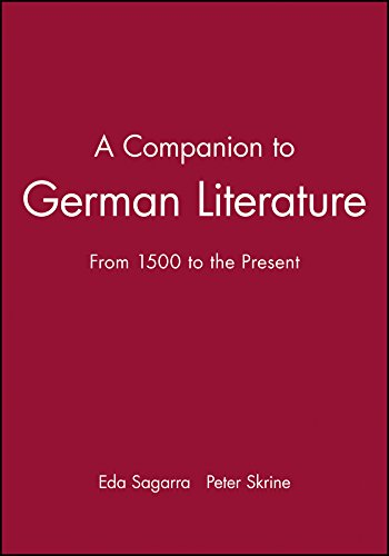 9780631215950: A Companion to German Literature: From 1500 to the Present