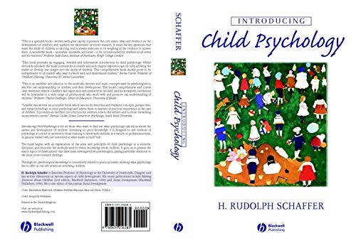 9780631216278: Introducing Child Psychology