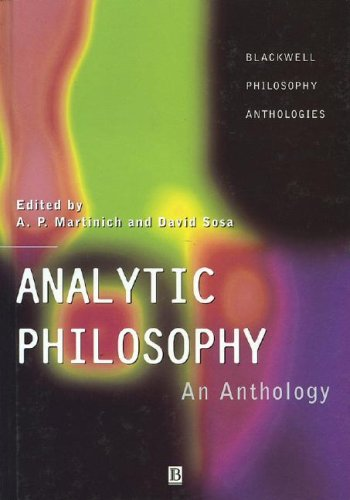 9780631216469: Analytic Philosophy: An Anthology (Blackwell Philosophy Anthologies)