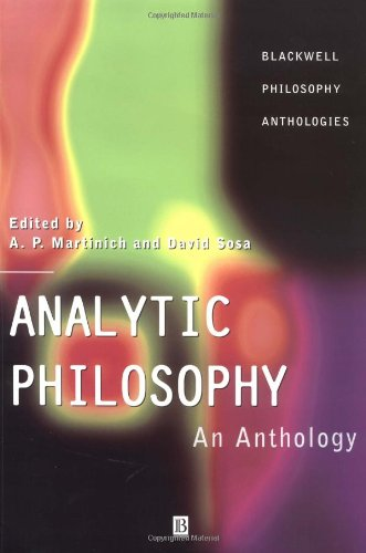 9780631216476: Analytic Philosophy: An Anthology (Blackwell Philosophy Anthologies)