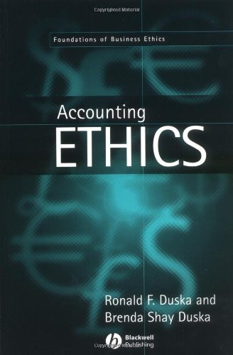 9780631216513: Accounting Ethics (Foundations of Business Ethics)