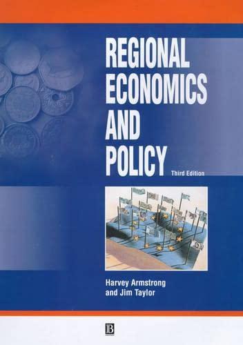 9780631216575: Regional Economics and Policy