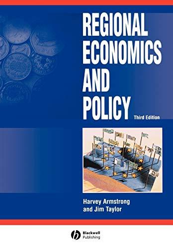 9780631217138: Regional Economics and Policy