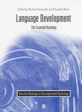 9780631217442: Language Development: The Essential Readings (Essential Readings in Developmental Psychology)