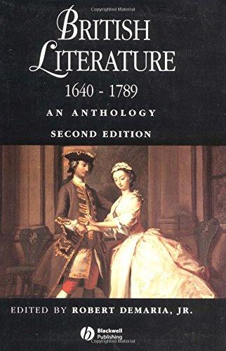 9780631217695: British Literature 1640 - 1789: An Anthology (Blackwell Anthologies)