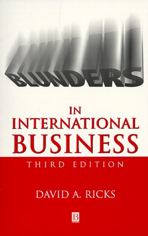 9780631217763: Blunders in International Business (Blackwell Business)