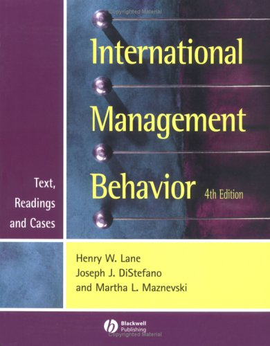 9780631218319: International Management Behavior: Text, Readings and Cases (Blackwell Business)