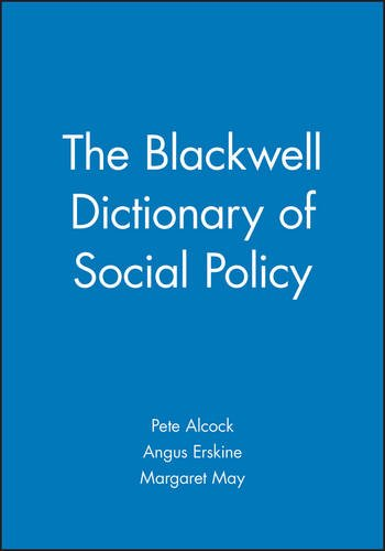 9780631218463: The Blackwell Dictionary of Social Policy