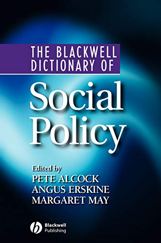 9780631218470: The Blackwell Dictionary of Social Policy