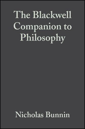 9780631219071: The Blackwell Companion to Philosophy (Blackwell Companions to Philosophy)