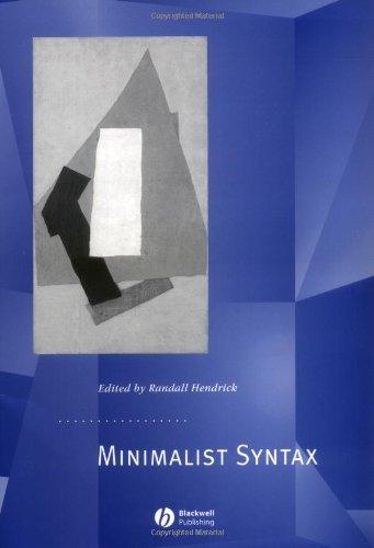 9780631219415: Minimalist Syntax