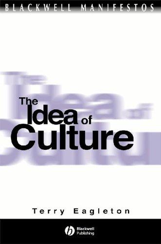 9780631219668: Idea Of Culture (Blackwell Manifestos)
