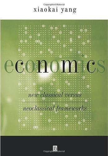 Economics: New Classical Versus Neoclassical Frameworks: Yang, Xiaokai