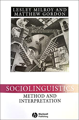 9780631222255: Sociolinguistics: Method and Interpretation