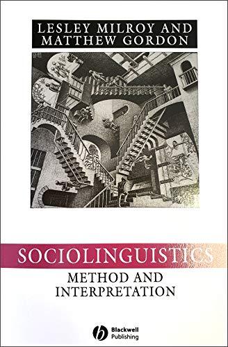 9780631222255: Sociolinguistics: Method and Interpretation