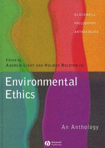 9780631222934: Environmental Ethics: An Anthology (Blackwell Philosophy Anthologies)