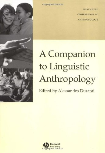 9780631223528: A Companion to Linguistic Anthropology