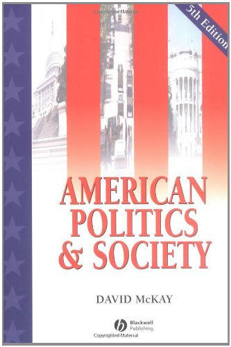 9780631224167: American Politics and Society