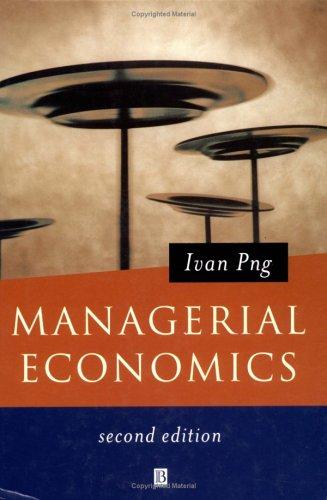 9780631225164: Managerial Economics