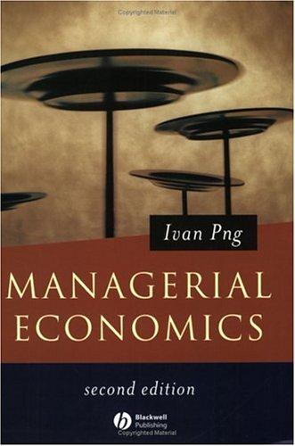 9780631225256: Managerial Economics