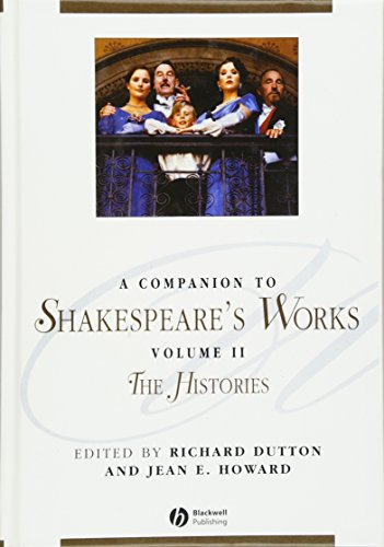 9780631226338: A Companion to Shakespeare's Works, Volume II: The Histories