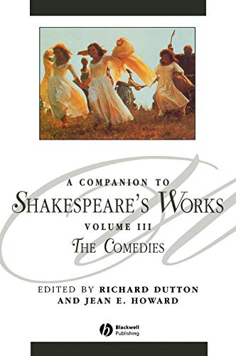 9780631226345: Companion Shakespeare s Works V3 C: Comedies Vol 3 (Blackwell Companions to Literature and Culture)