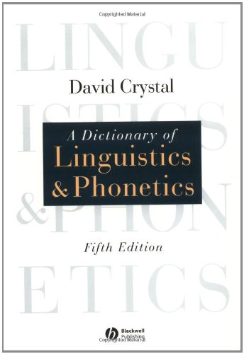9780631226642: Dictionary of Linguistics and Phonetics (Language Library)