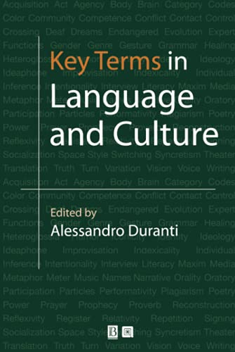 9780631226659: Key Terms in Language and Culture