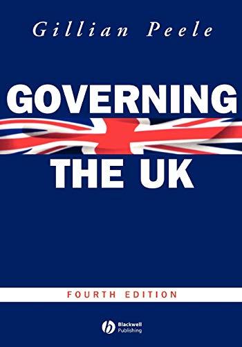 9780631226819: Governing the UK: British Politics in the 21st Century