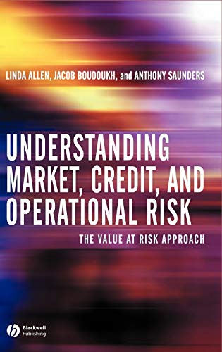 9780631227090: Understanding Market, Credit, and Operational Risk: The Value at Risk Approach
