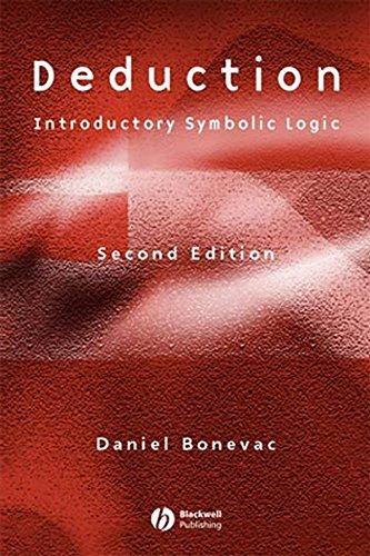 9780631227106: Deduction: Introductory Symbolic Logic