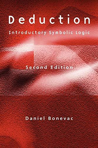 9780631227137: Deduction: Introductory Symbolic Logic