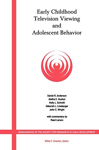 Early Childhood Television Viewing and Adolescent Behavior: Daniel R. Anderson,